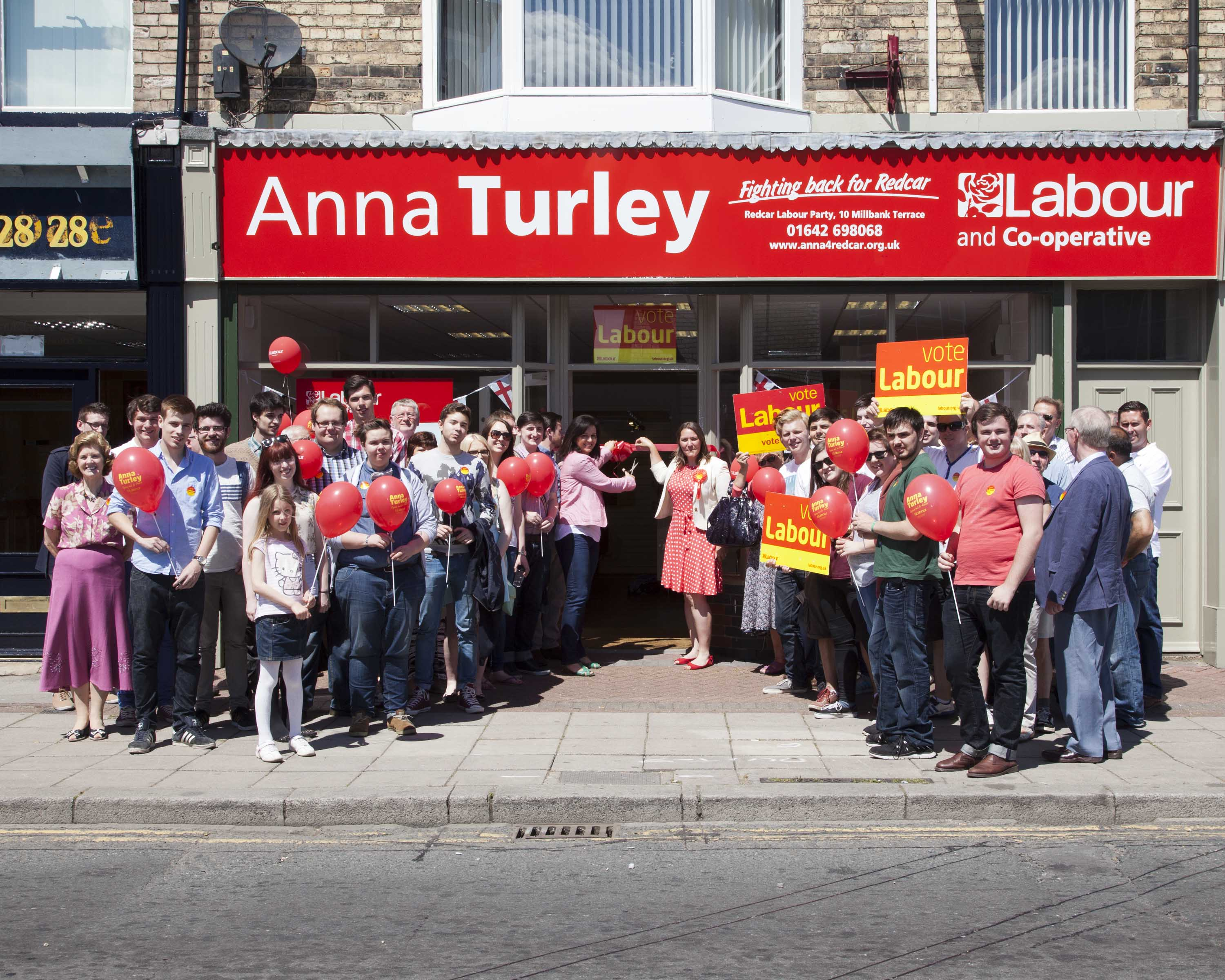 Opening of Anna Turley's campaign office