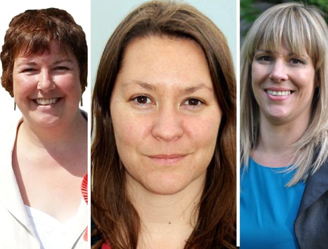 Louise Baldock, Anna Turley, Lee Sherriff