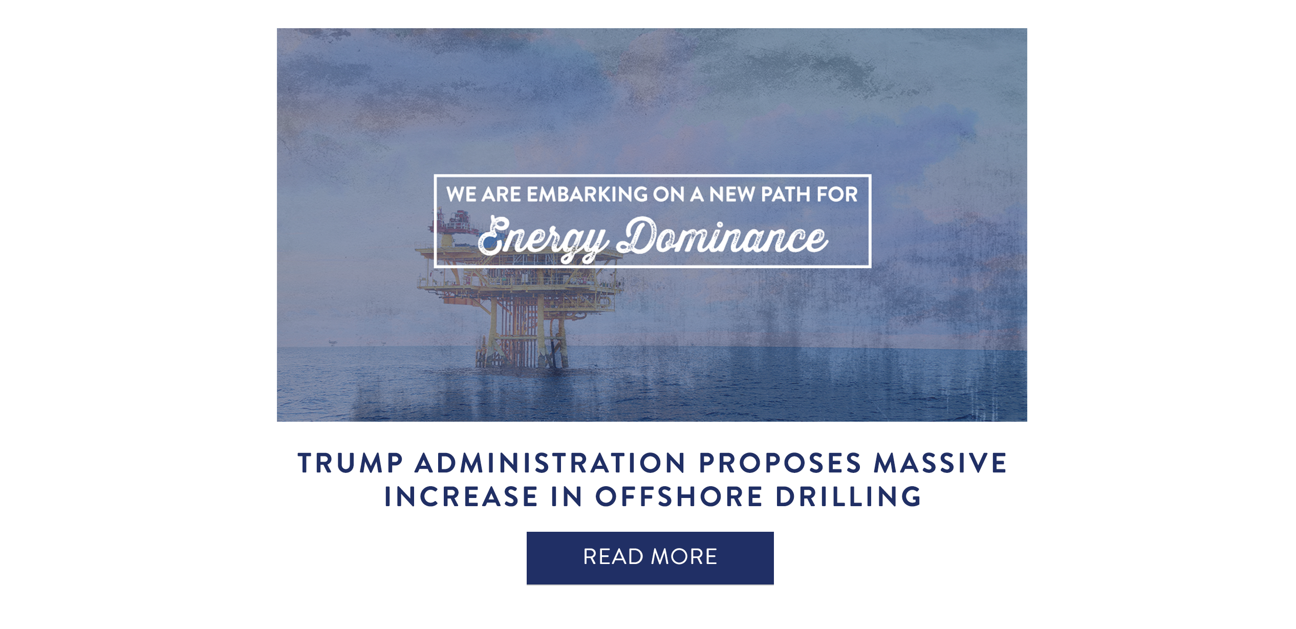 Trump Administration Proposes Massive Increase In Off-shore Drilling