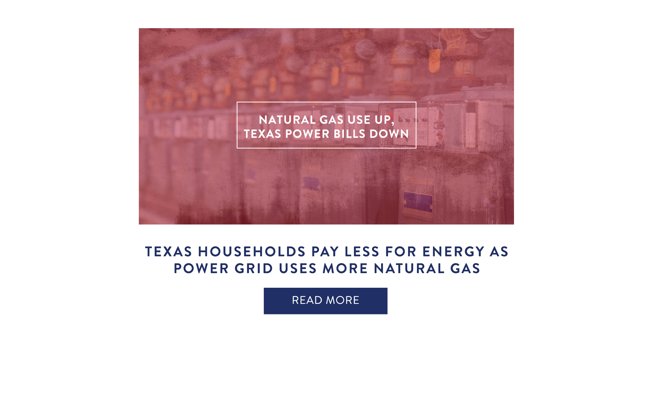 Texas Households Pay Less for Energy as Power Grid Uses More Natural Gas