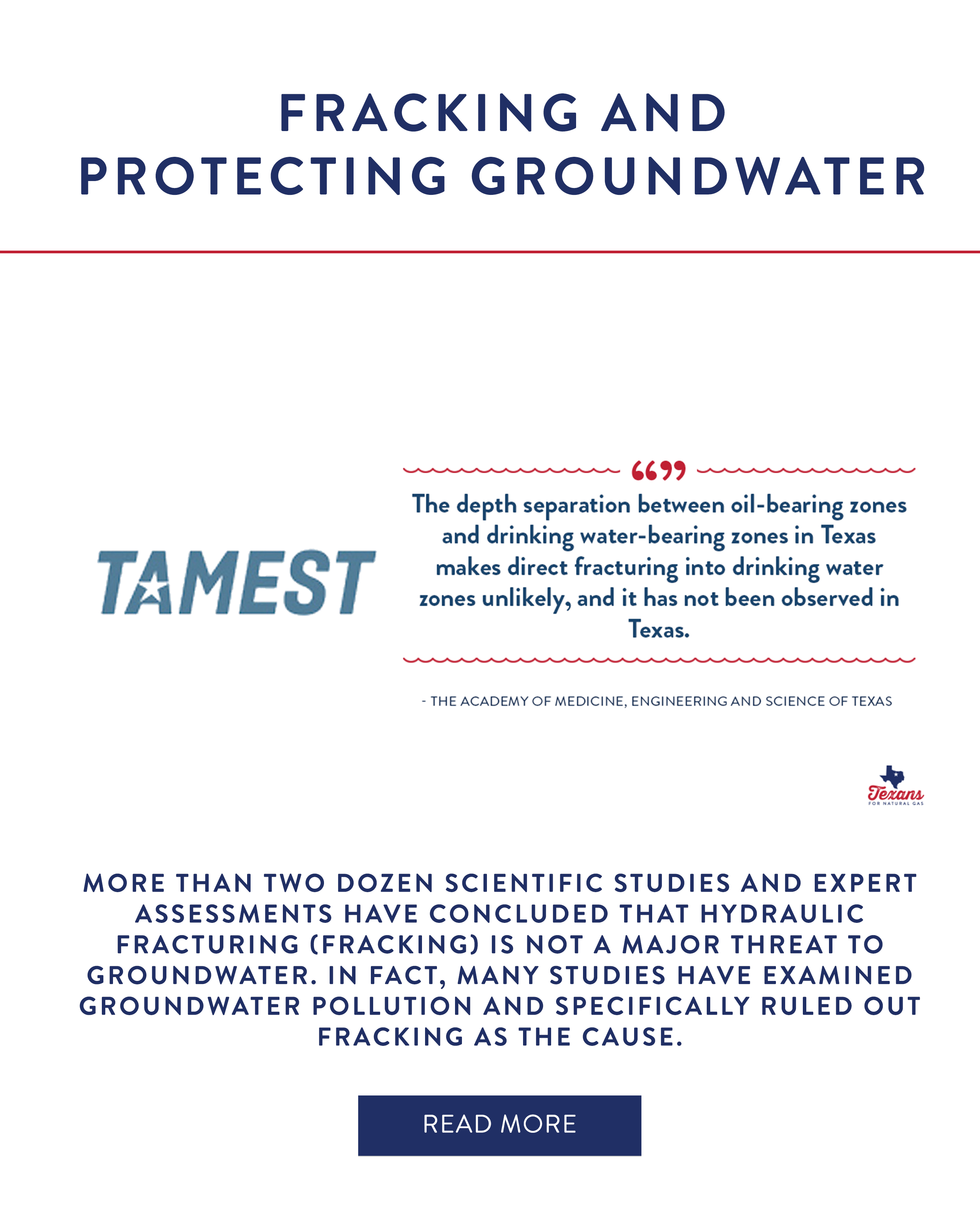 Fracking & Protecting Groundwater
