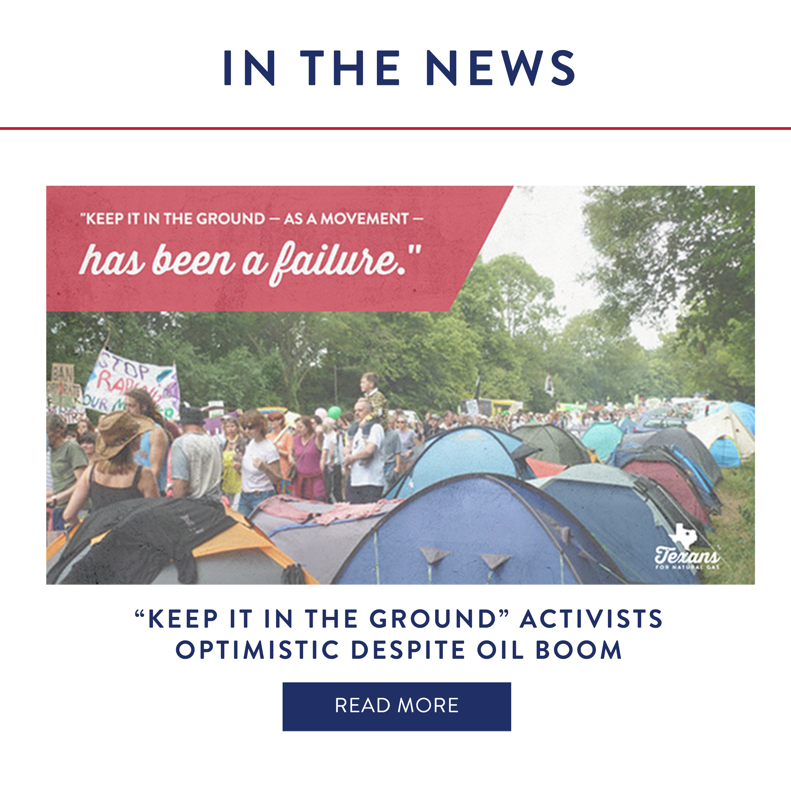 'Keep It In The Ground' Activists Optimistic Despite Oil Boom