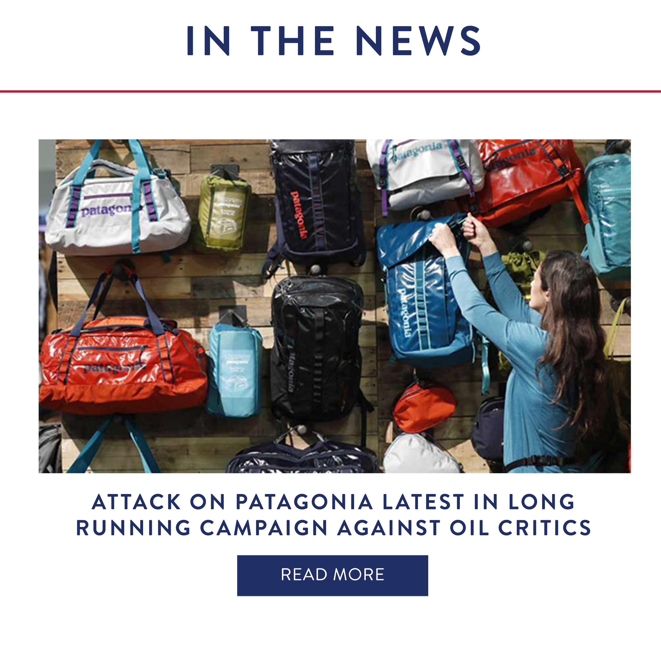Attack on Patagonia latest in long running campaign against oil critics