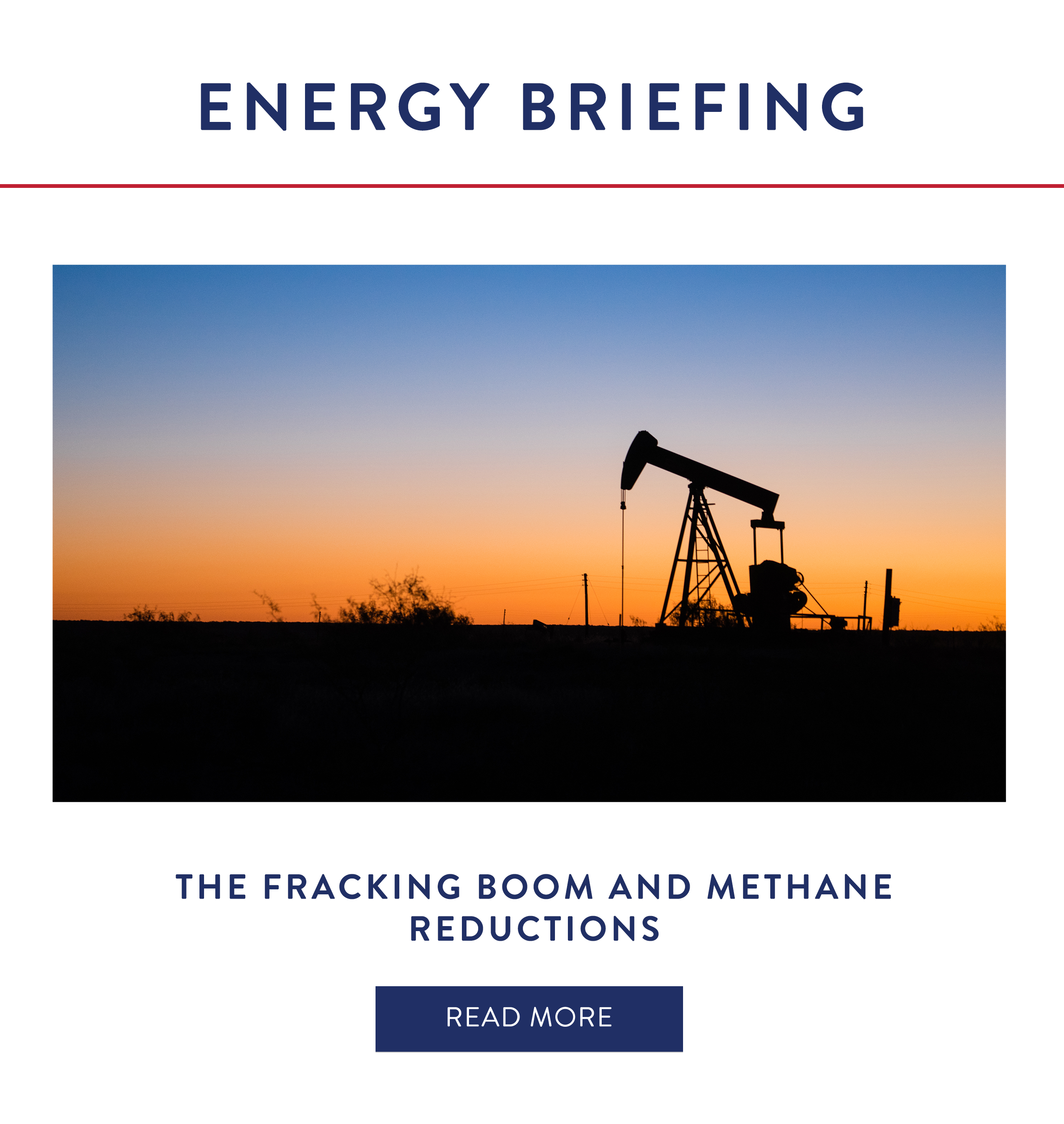 The Fracking Boom and Methane Reductions