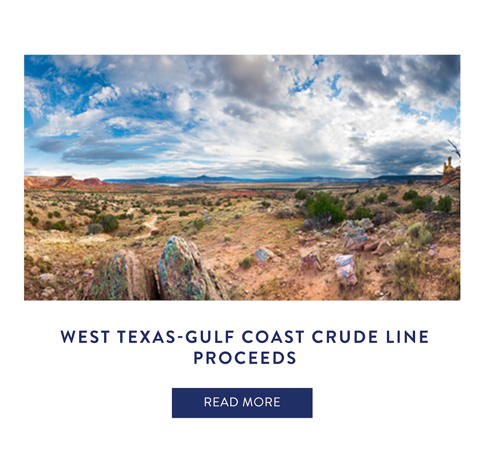 West Texas-Gulf Coast Crude Line Proceeds