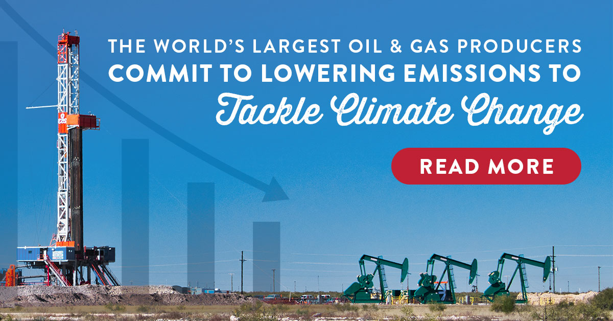 The World's Largest Oil & Gas Producers Commit To Lowering Emissions To Tackle Climate Change