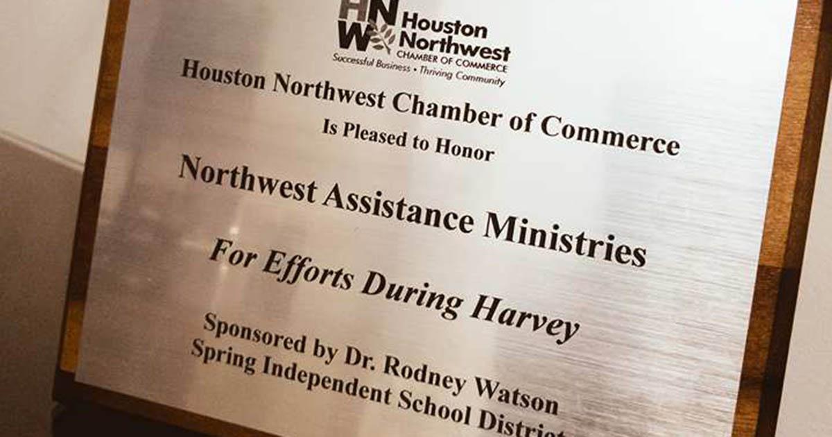 Houston Northwest Chamber Honors NAM for Harvey Relief Efforts