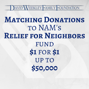 David Weekley Family Foundation/NAM Relief Challenge Grant