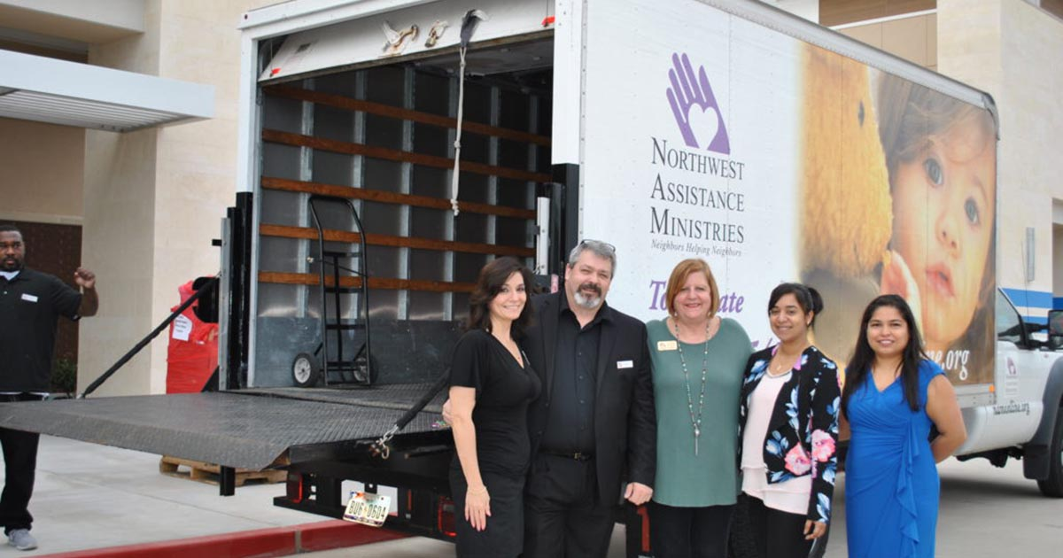 Northwest Assistance Ministries Received 2,400 Pounds of Brand New Merchandise from Burlington Stores