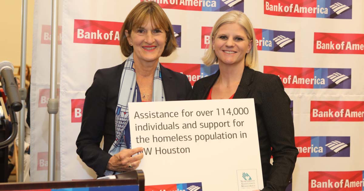 Northwest Assistance Ministries is Awarded a $15,000 Grant from Bank of America Charitable Foundation