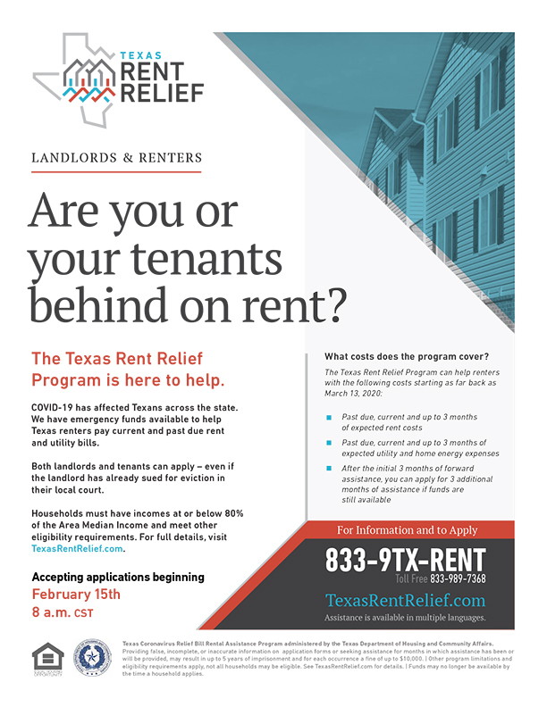 TDHCA Rent Relief - English