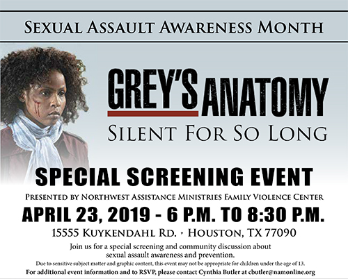 Sexual Assault Awareness Month Special Screening of