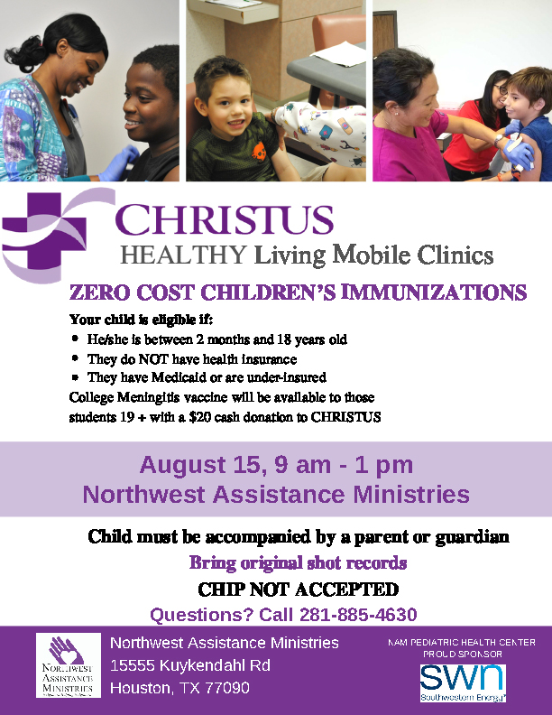 CHRISTUS Immunizations