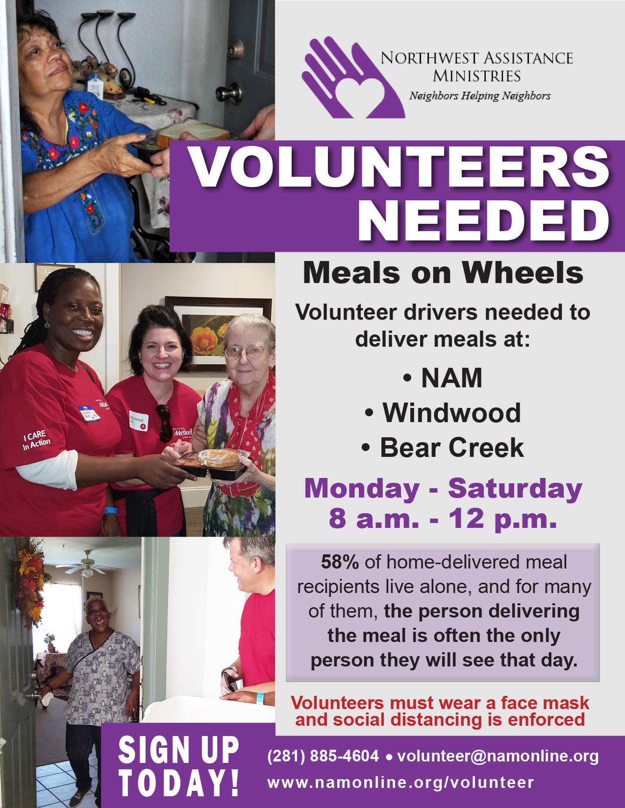 Meals on Wheels Volunteer Opportunities