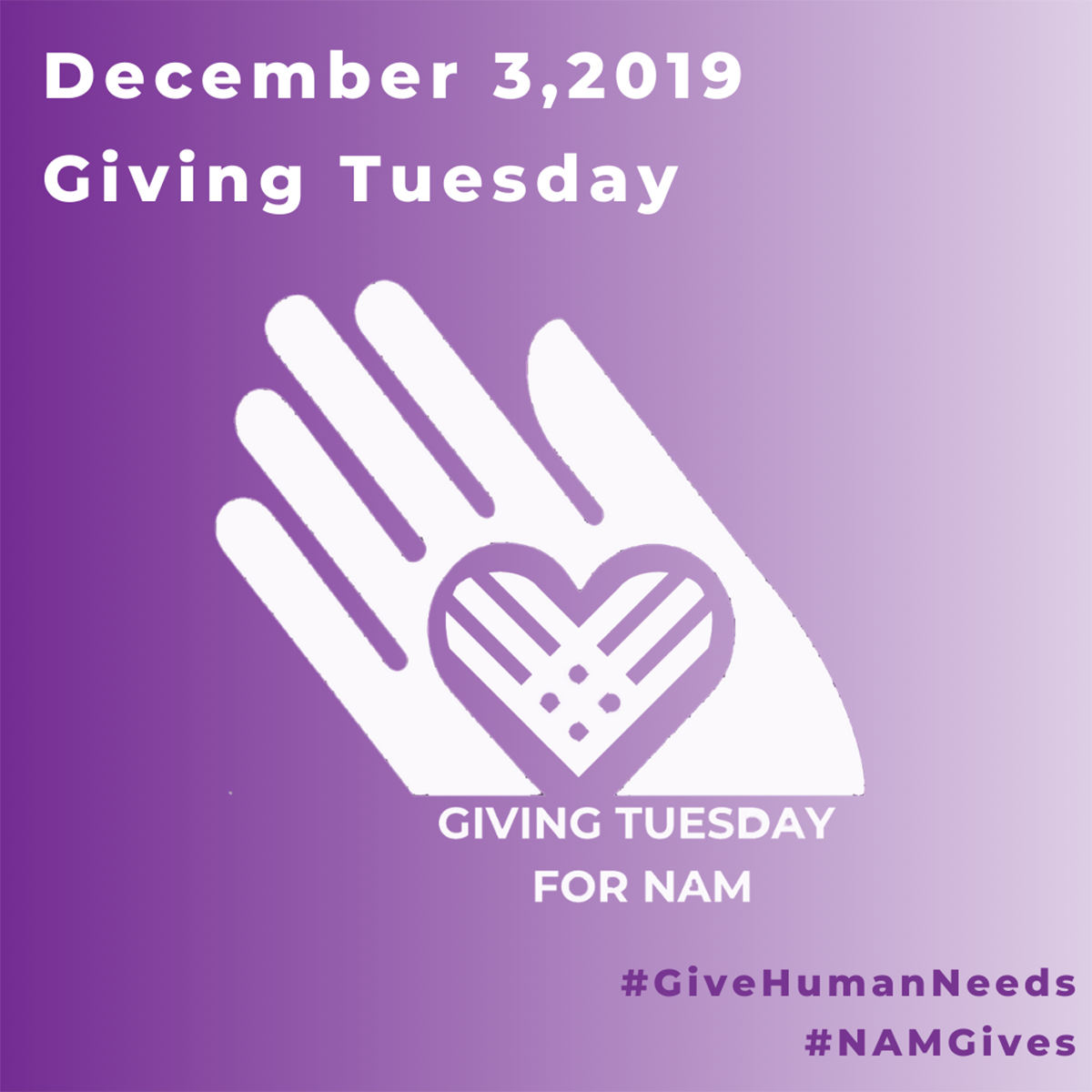 Remember NAM on Giving Tuesday