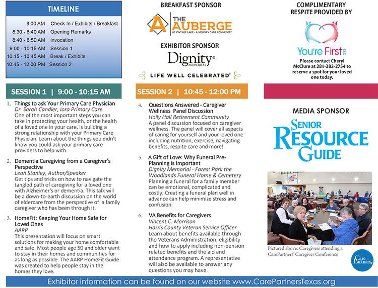 Caregiver Conference Brochure