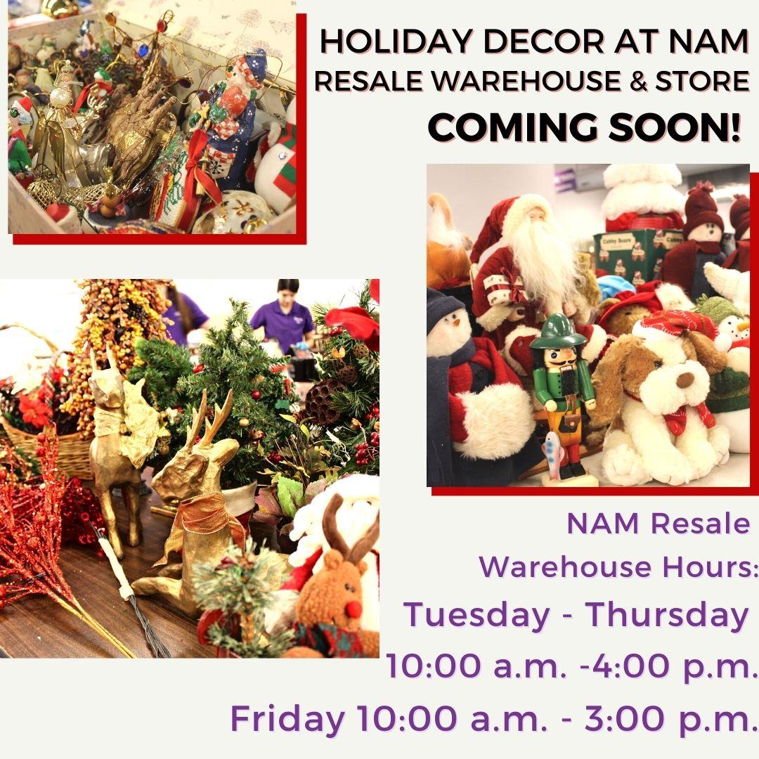 NAM Resale Opens Santa's Wonderland of Holiday Home Decor