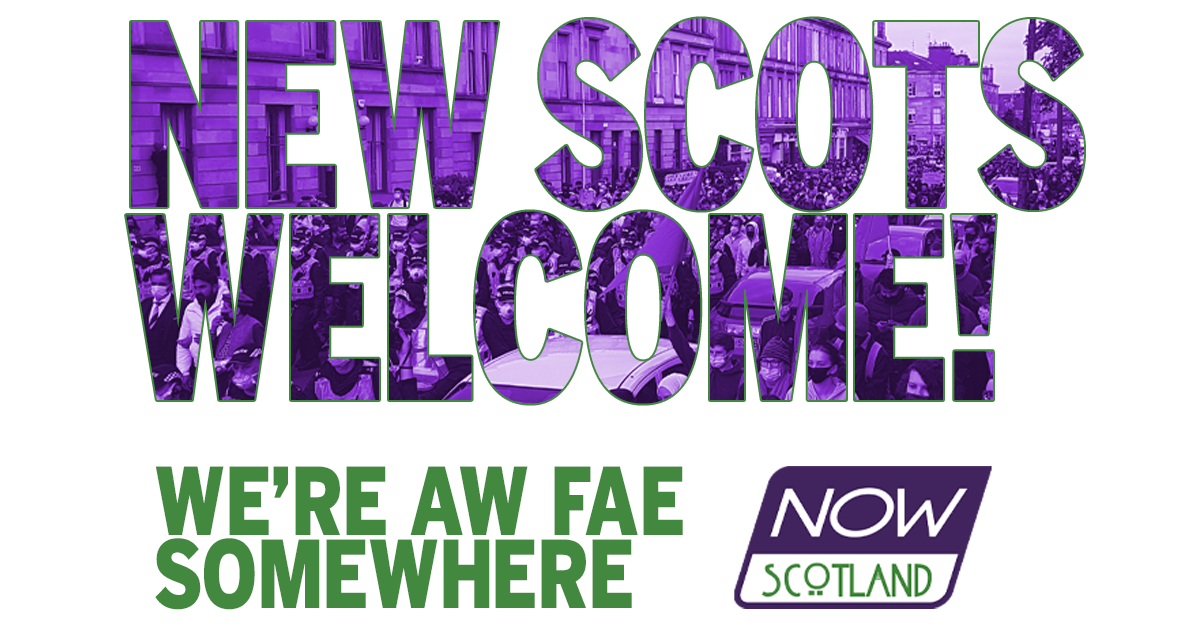 A4 POSTER: New Scots Welcome