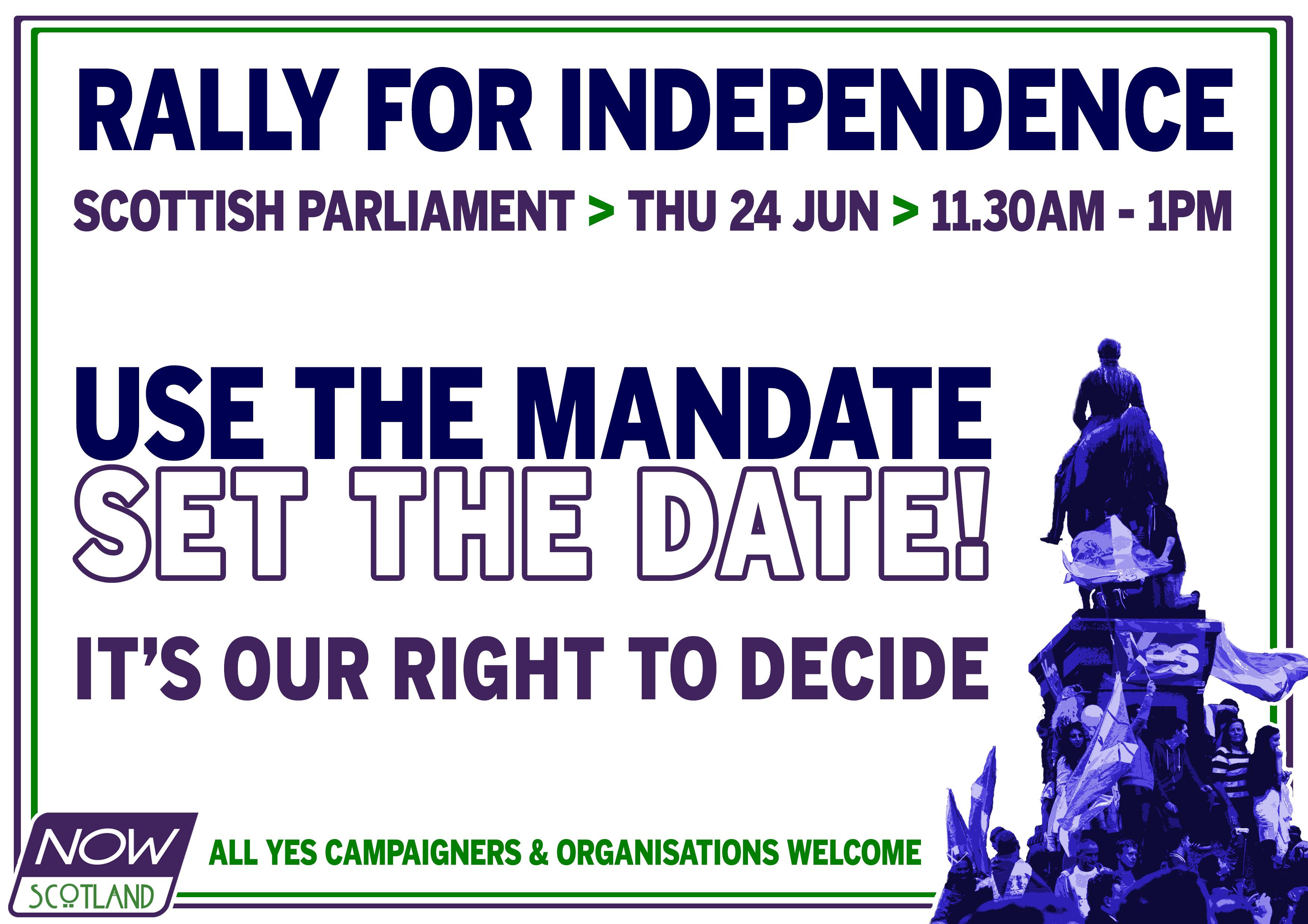 Now Scotland rally at Holyrood