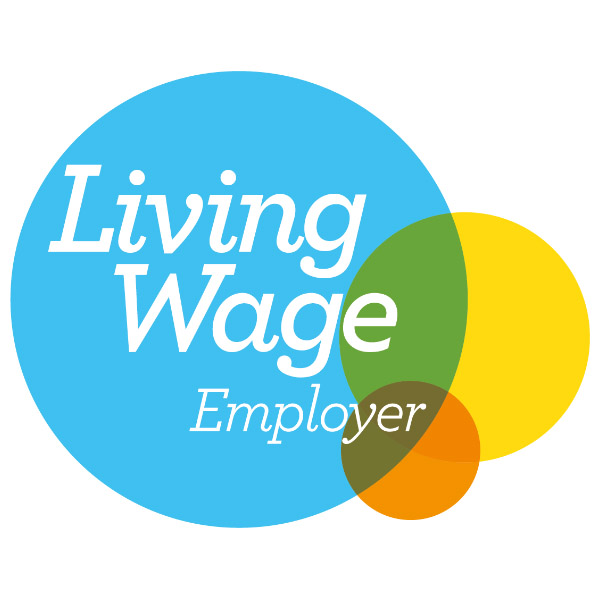 'Living Wage Employer' logo