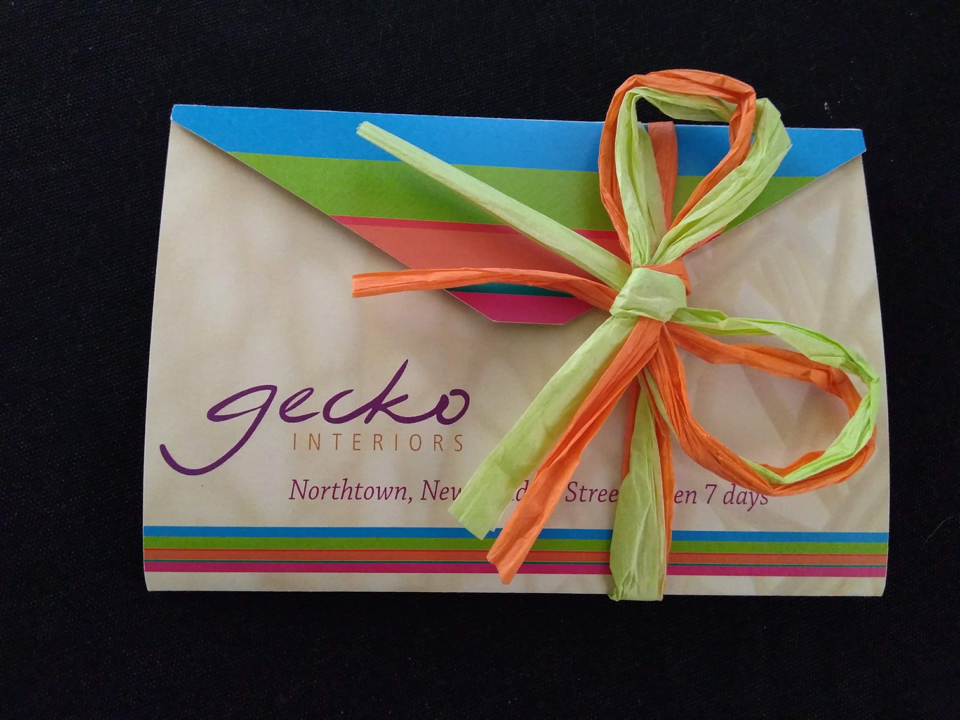 Voucher from Gecko Interiors