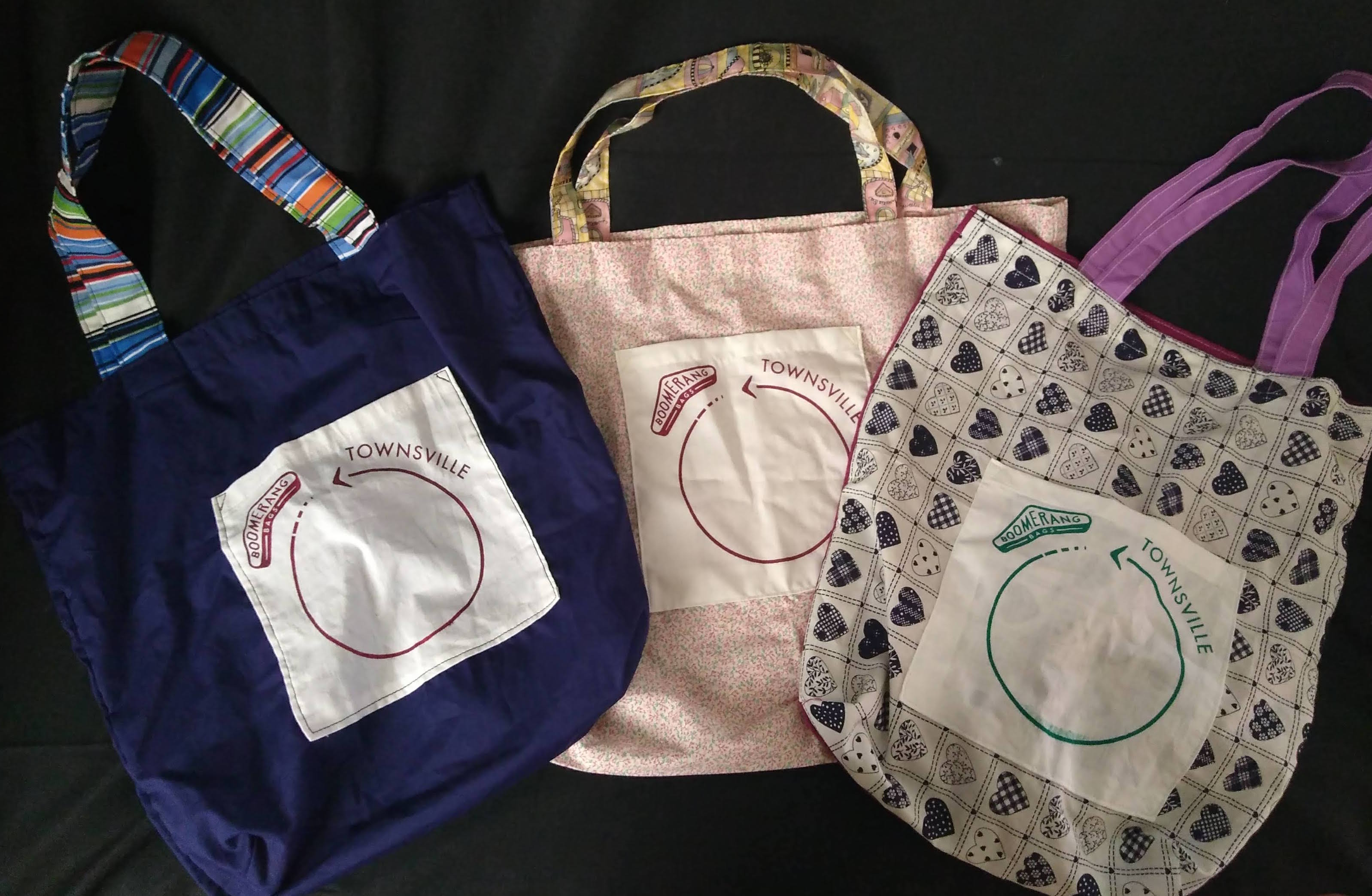 Locally made Boomerang Bags