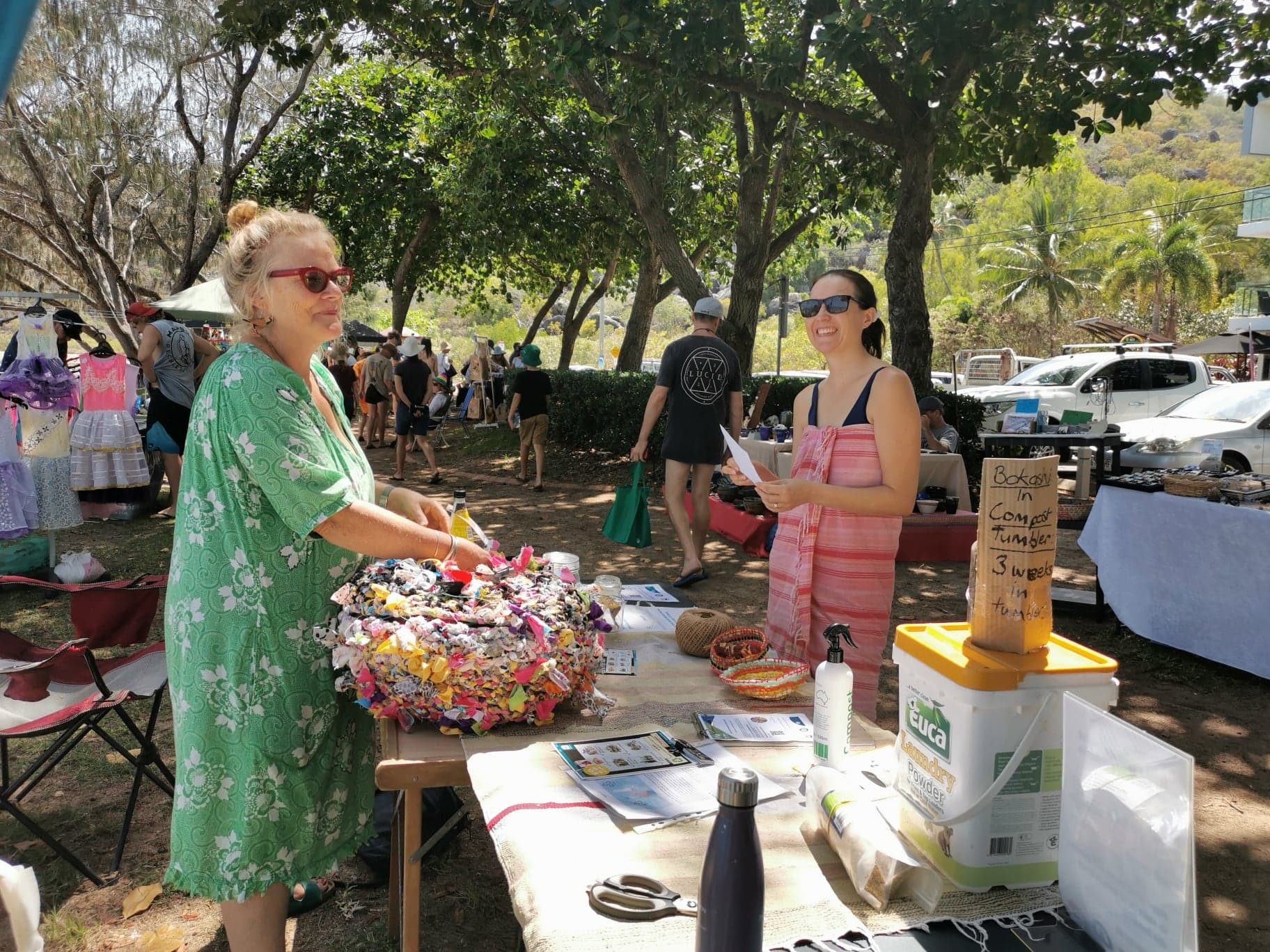 Rose Gordon on the Zero Waste Stall at the Horseshoe Bay markets