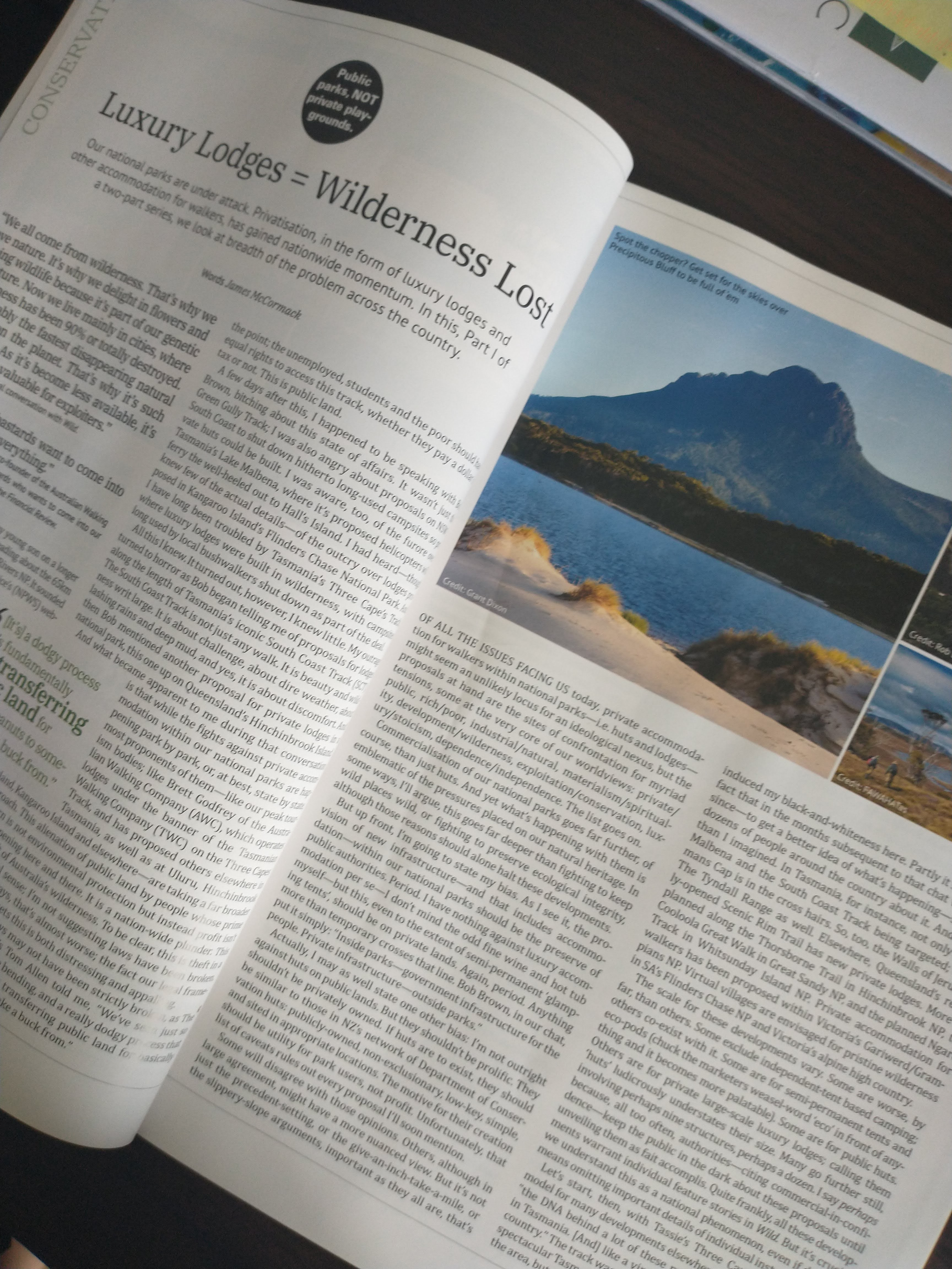 National Parks article in Wild magazine