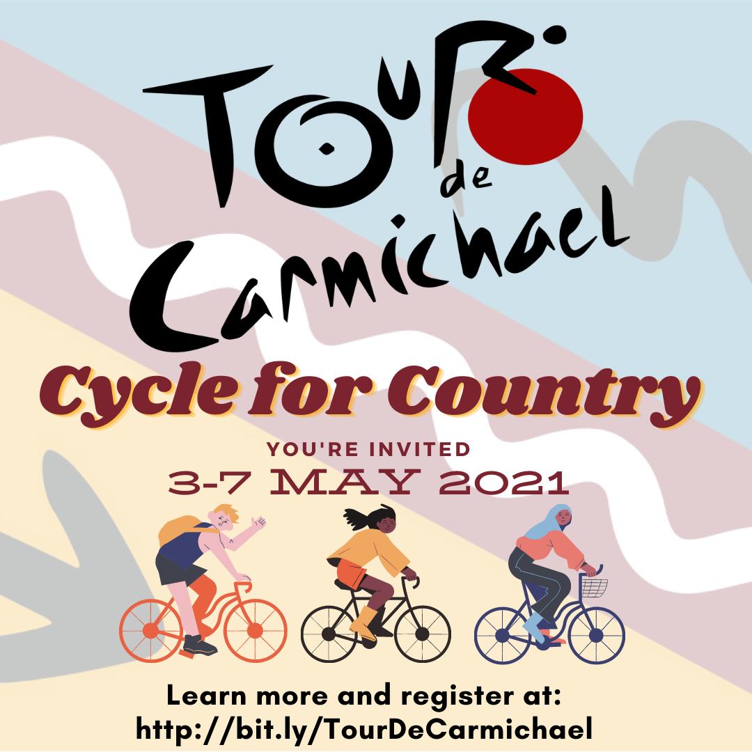 Tour de Carmichael event poster