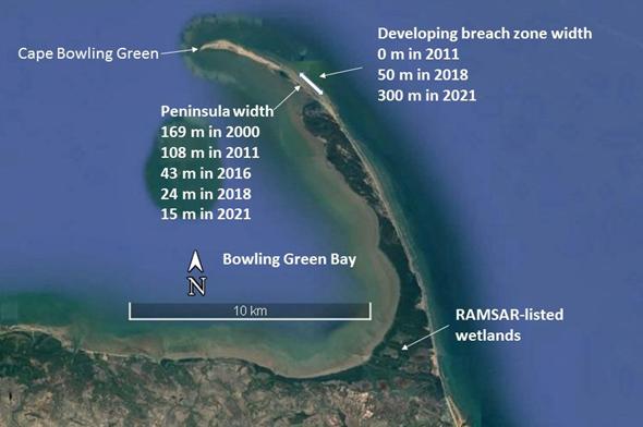 Erosion of Cape Bowling Green