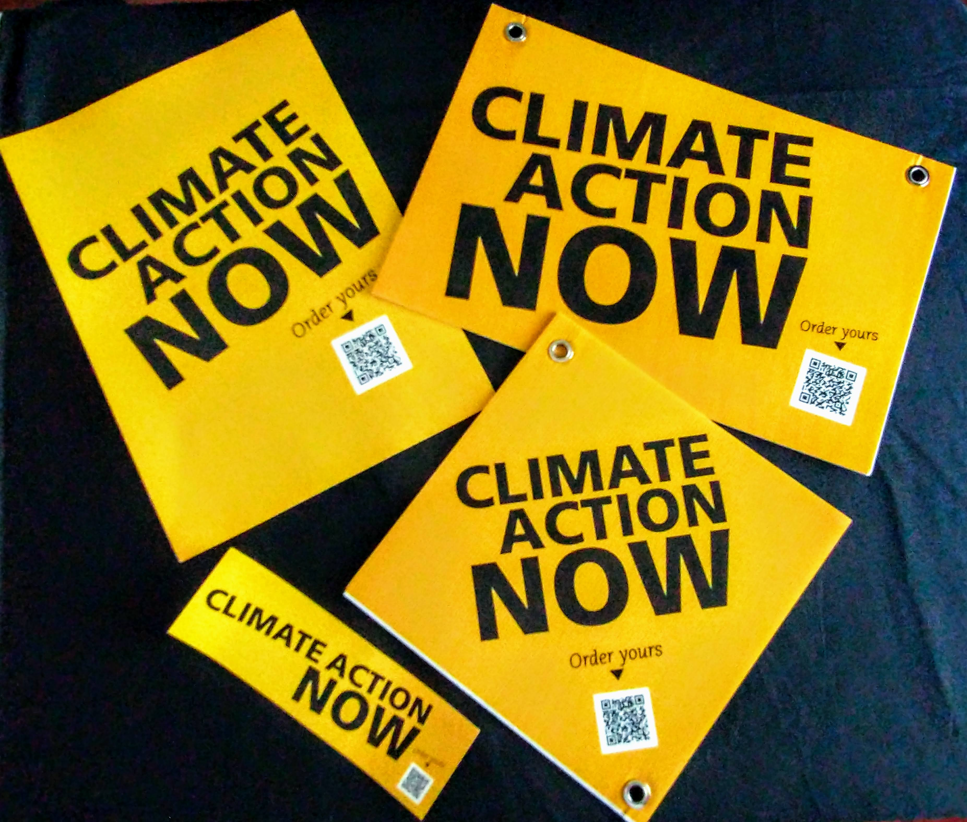 Climate Action signs