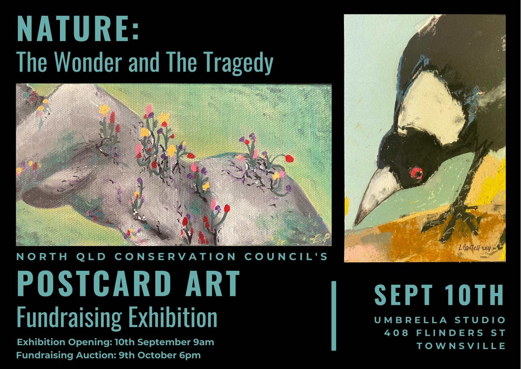 Postcard Art Exhibition flyer