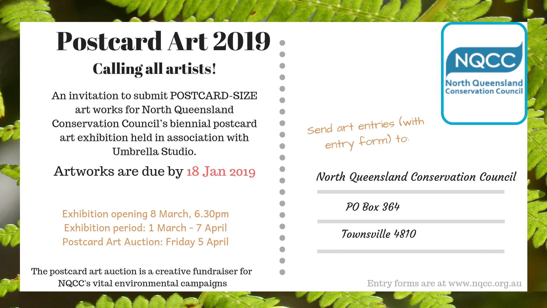 Postcard art new dates