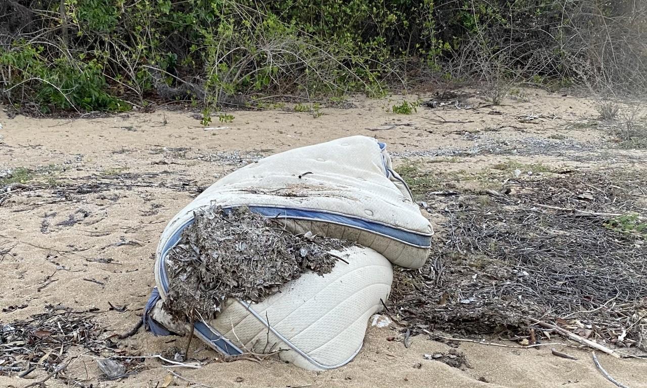 Discarded mattress