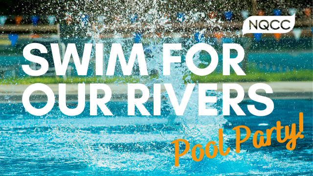 Swim for our rivers pool party!