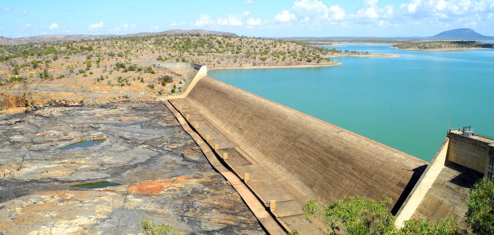 Burdekin Dam wall