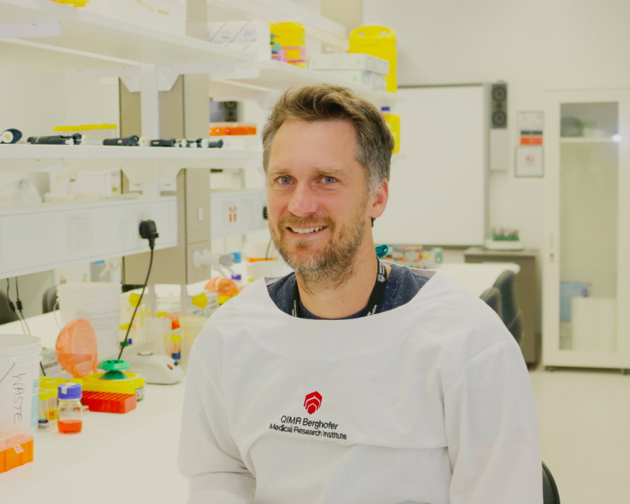 Associate Professor James Hudson. Credit: QIMR Berghofer Medical Research Institute