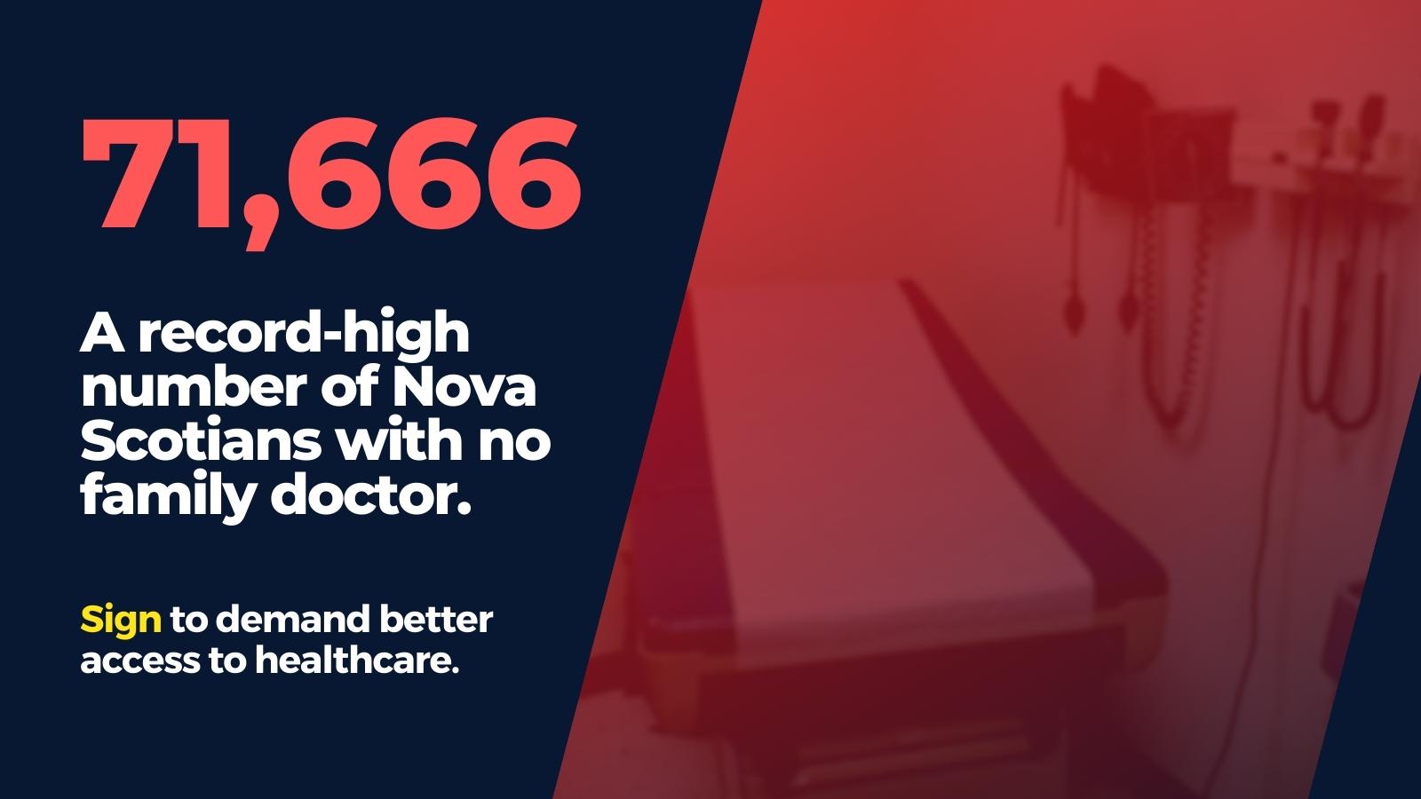 SIGN: Nova Scotians Deserve Access to Primary Care!