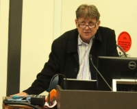 President Stephen Blanks speaking at Sydney Uni meeting