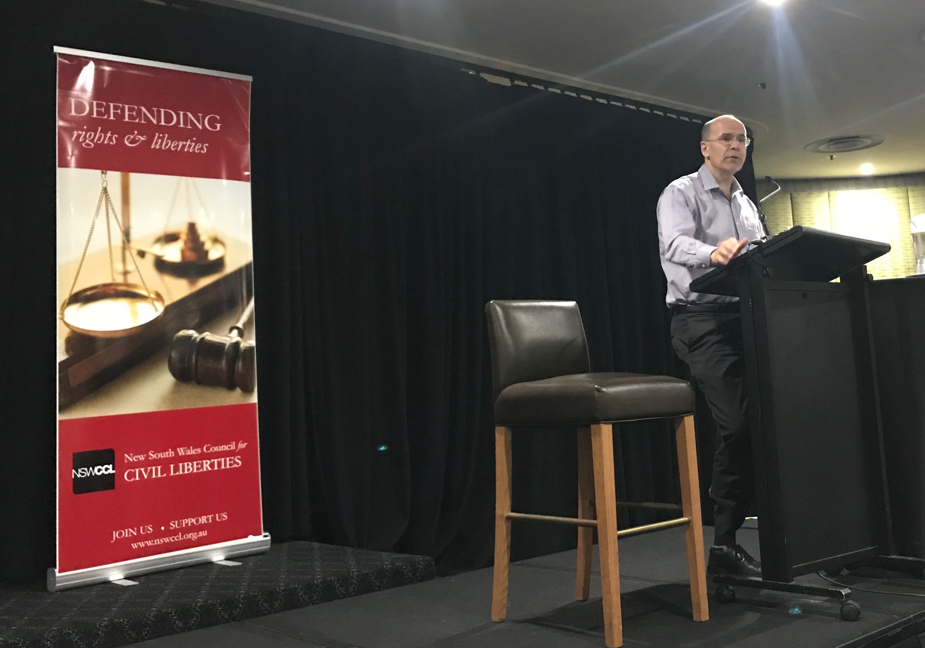 John Marsden speaking at 2018 John Marsden Lecture