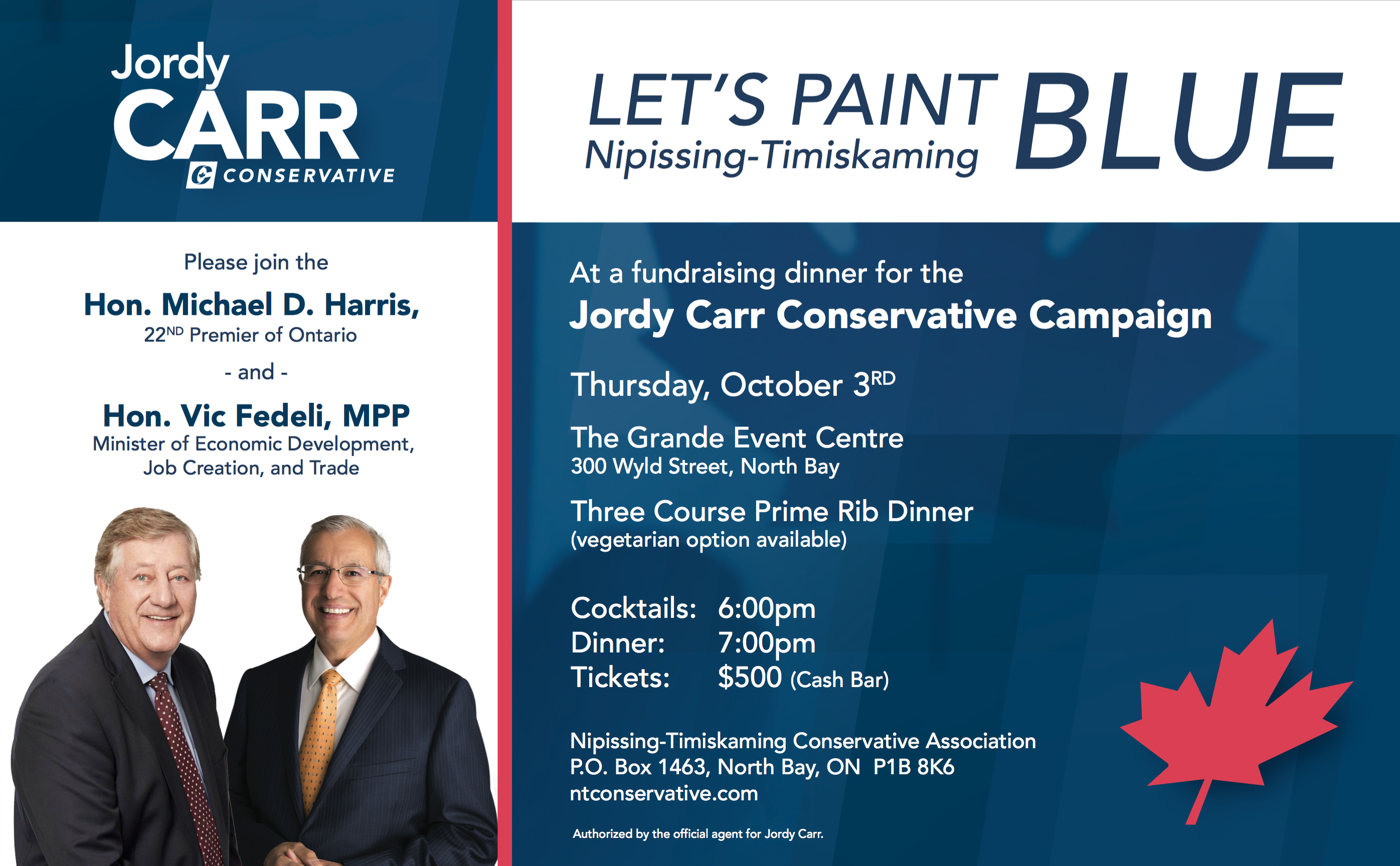 Paint Nipissing-Timiskaming Blue Fundraiser Emailer