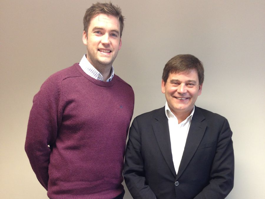 Andrew Bridgen MP and Stuart Johnson, Director of Sport and Community Development at the North West Leicestershire School Sports Partnership