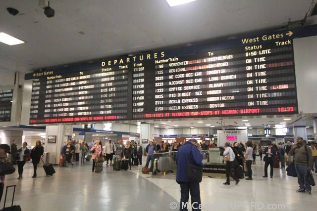 Penn Station Board - Meet Here