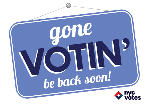 FREE Gone Voting Sticker...