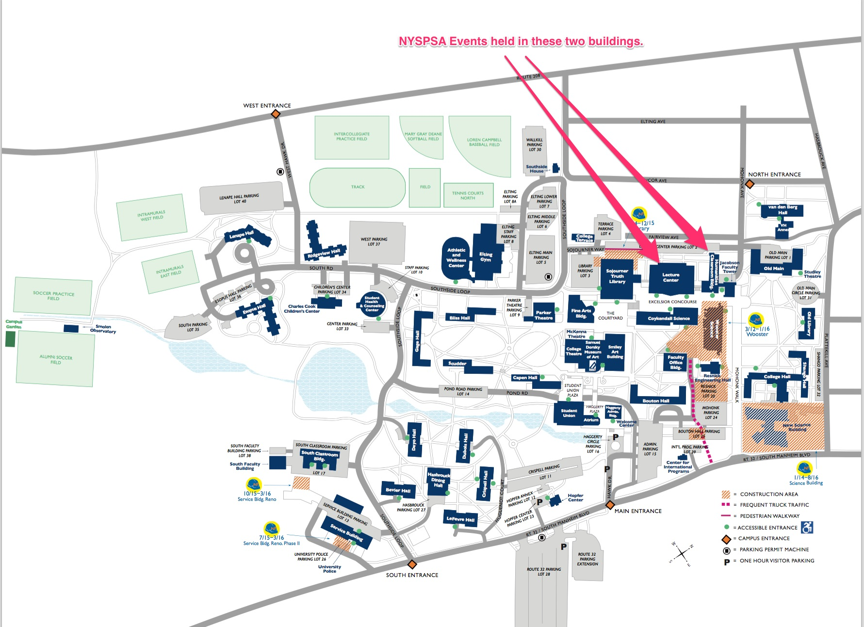 Suny New Paltz Campus Map SUNY New Paltz Campus Map   NYSPSA Suny New Paltz Campus Map