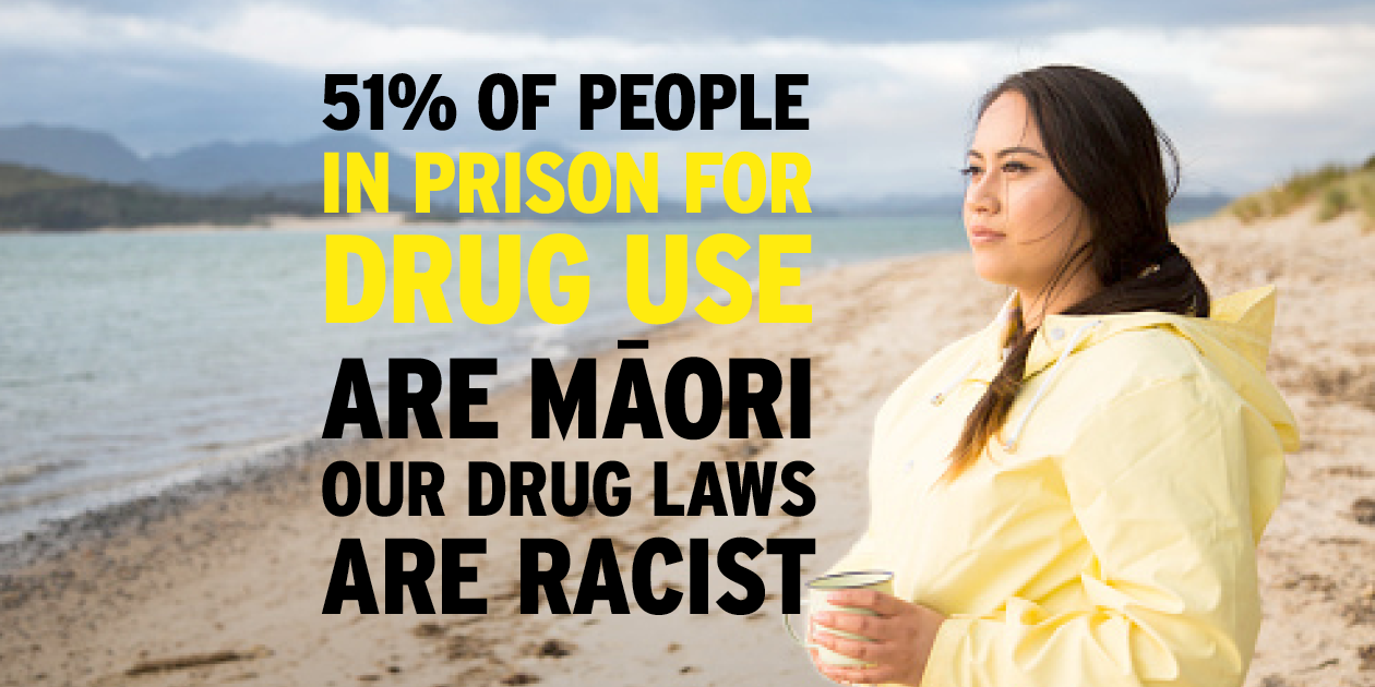 51% of people in prison for drug use are Māori. Our drug laws are racist!