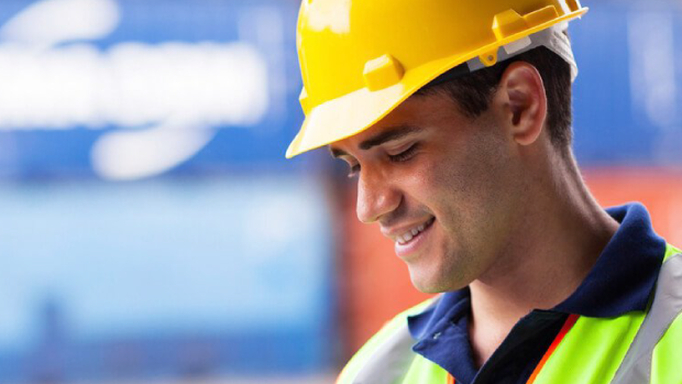 Image of man with a yellow hard hat