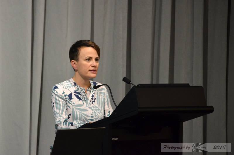 Disability Rights Commissioner Paula Tesoriero talks at a Suffrage125 event