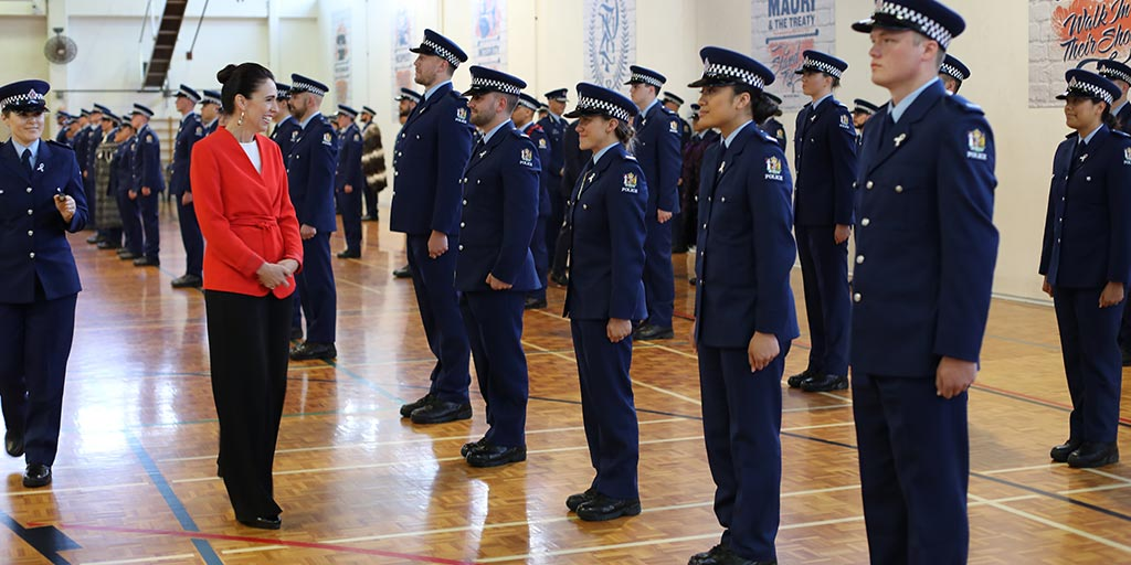 The Prime Minister and Police Minister visited Police College in Porirua to attend the graduation of Wing 332.