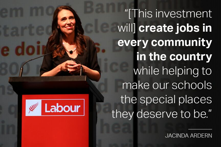 The Prime Minister delivers her address at the Labour Party Conference in Whanganui.